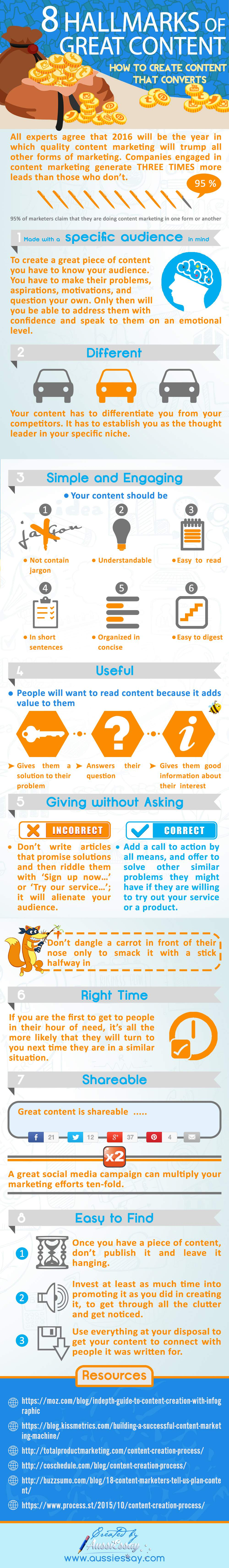 8 hallmarks of great content