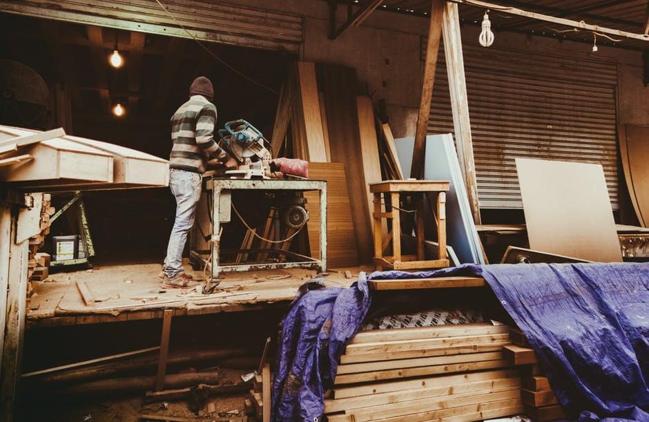Materials-men working