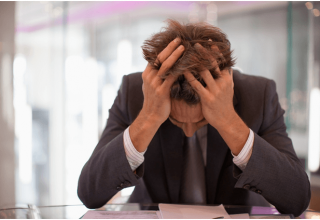 men stressed work