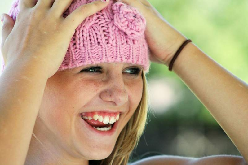 girl-hat-happy-laughing-face-cute