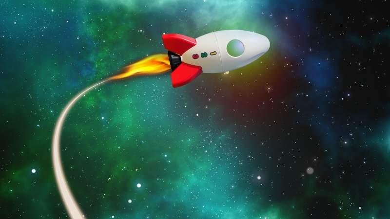 rocket-flight-path-universe-star